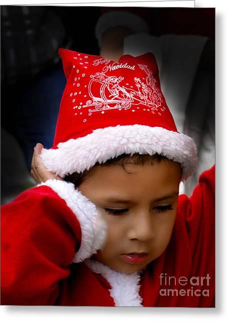 Baby Jesus Greeting Cards - Cuenca Kids 569 Greeting Card by Al Bourassa