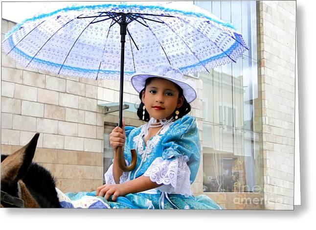 Baby Jesus Greeting Cards - Cuenca Kids 578 Greeting Card by Al Bourassa