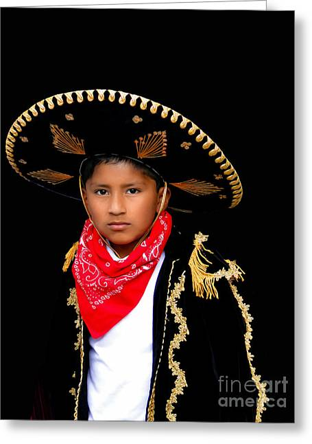 Innocent Smile Greeting Cards - Cuenca Kids 596 Greeting Card by Al Bourassa