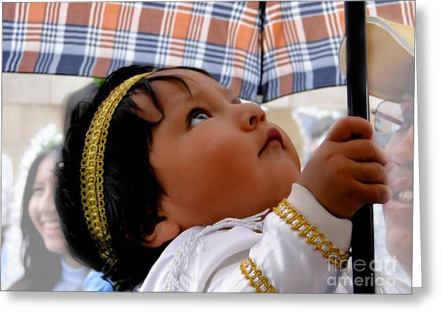 Innocence Child Greeting Cards - Cuenca Kids 597 Greeting Card by Al Bourassa