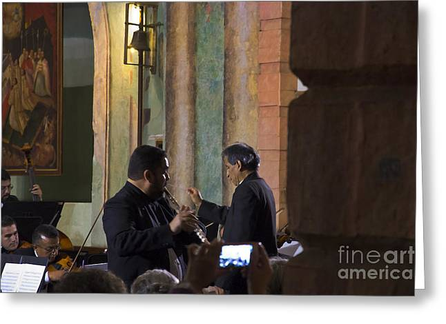 Cuenca Symphony Orchestra Painting Greeting Card by Al Bourassa