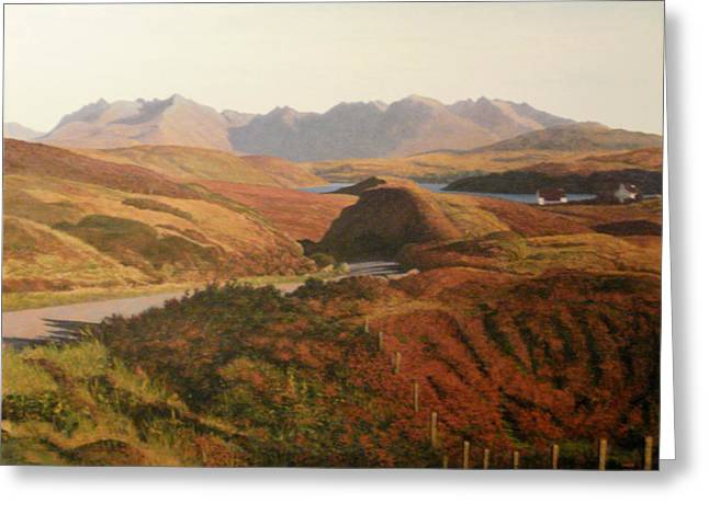 The Hills Greeting Cards - Cuillins Skye Greeting Card by Rodger Insh