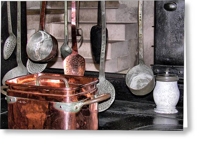 Indoor Still Life Greeting Cards - Cuisine at Chenonceau #2 Greeting Card by Nikolyn McDonald