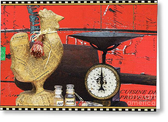 Advertising Mixed Media Greeting Cards - Cuisine de Provence Kitchen Print Greeting Card by Anahi DeCanio
