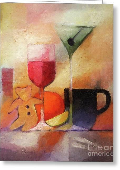 Still Life Artwork Greeting Cards - Cuisine Greeting Card by Lutz Baar