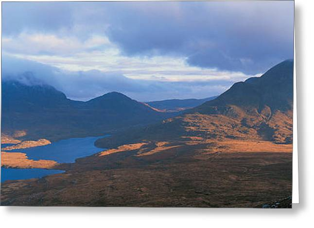 Reserve Greeting Cards - Cul Moor & Cul Beag Mountains Stac Greeting Card by Panoramic Images