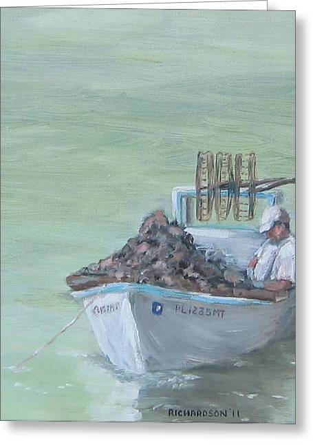Apalachicola Seafood Greeting Cards - Culling the Catch Greeting Card by Susan Richardson
