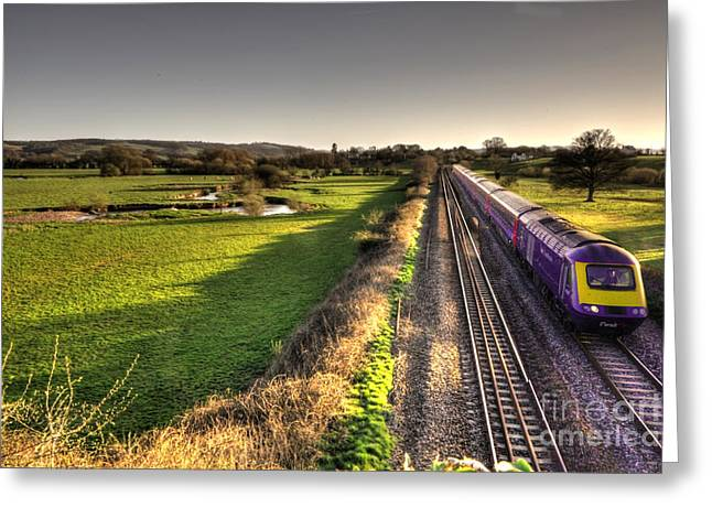 Culm Greeting Cards - Culm Valley HST  Greeting Card by Rob Hawkins