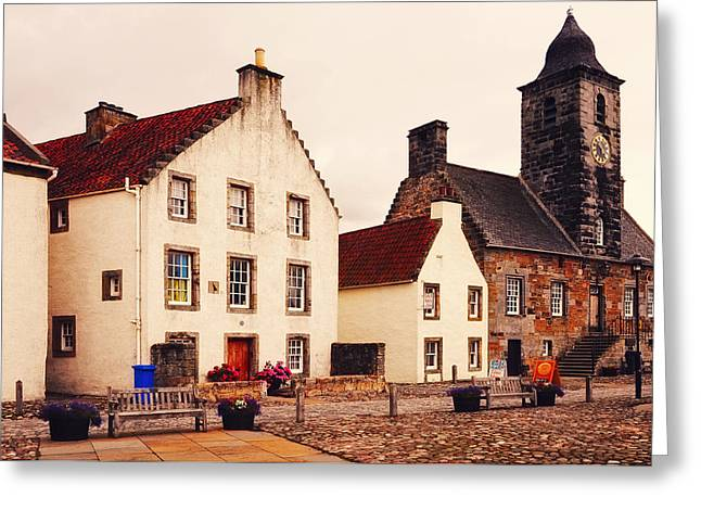 Fife Greeting Cards - Culross Sketches 3. Scotland Greeting Card by Jenny Rainbow