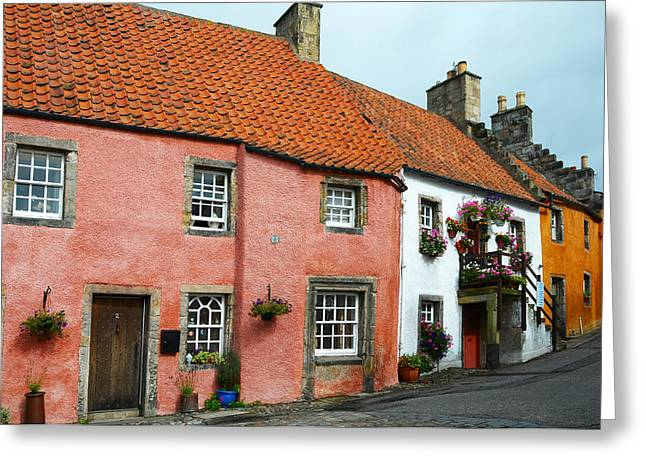Fife Greeting Cards - Culross Sketches 5. Scotland Greeting Card by Jenny Rainbow