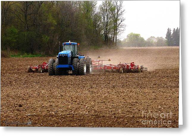 Cultivation Digital Art Greeting Cards - Cultivating the Soil in May Greeting Card by J McCombie