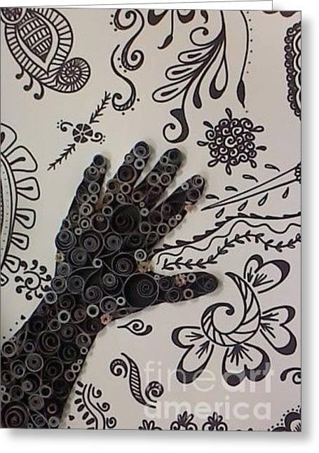 Quilling Greeting Cards - Cultural Interpretation Greeting Card by Leahblair Jackson