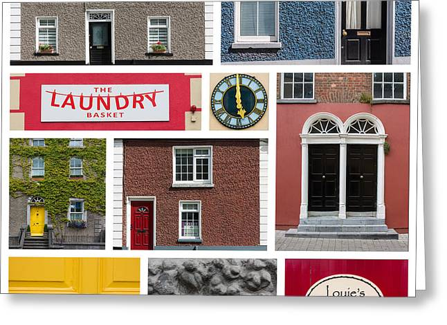 Entrance Shop Front Greeting Cards - Cultural Kilkenny Greeting Card by Semmick Photo