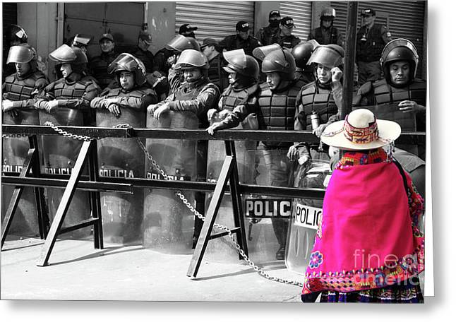 Protest Greeting Cards - Culture clash Greeting Card by James Brunker