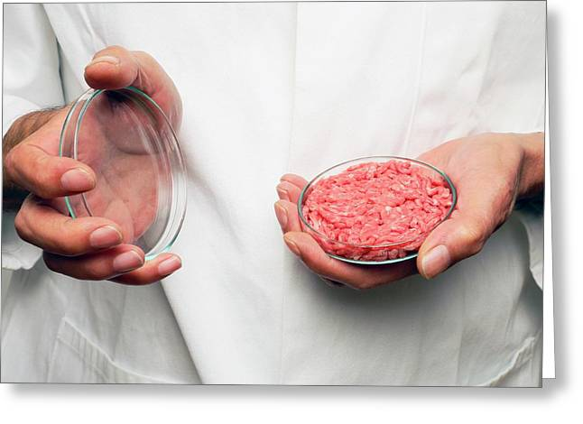 Cultured Meat Product Greeting Card by Victor De Schwanberg