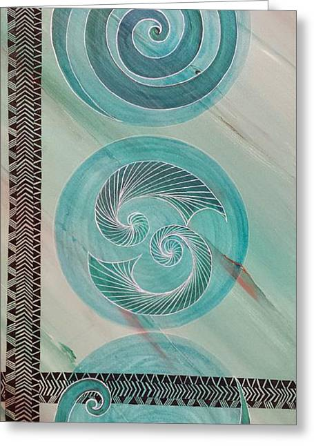 White Shark Mixed Media Greeting Cards - Cultures Greeting Card by Michaela Miller