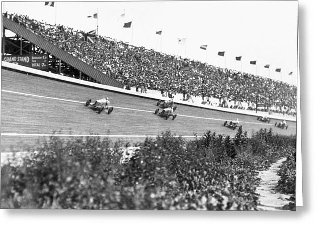 Culver City Speedway Action Greeting Card by Underwood Archives