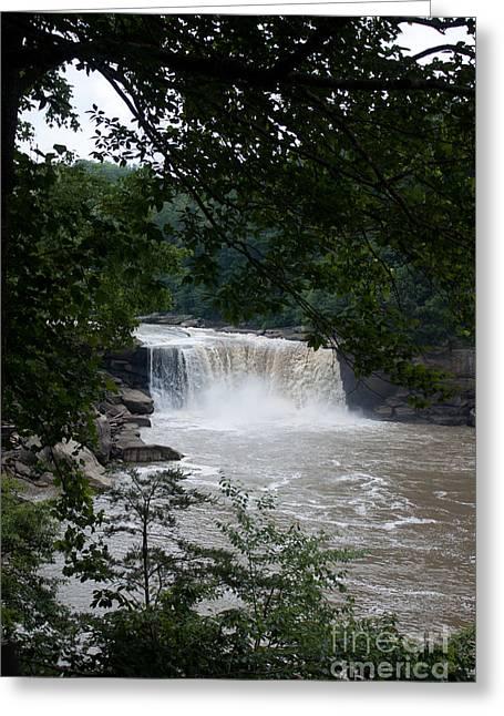 Joann Copeland-paul Greeting Cards - Cumberland Falls Greeting Card by Joann Copeland-Paul