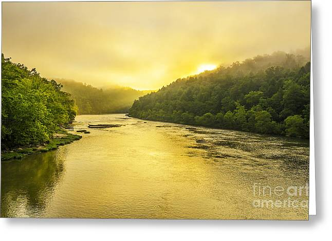Cumberland River Greeting Cards - Cumberland River morning Greeting Card by Anthony Heflin
