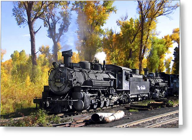 Chama Greeting Cards - Cumbres and Toltec Railroad Greeting Card by Kurt Van Wagner