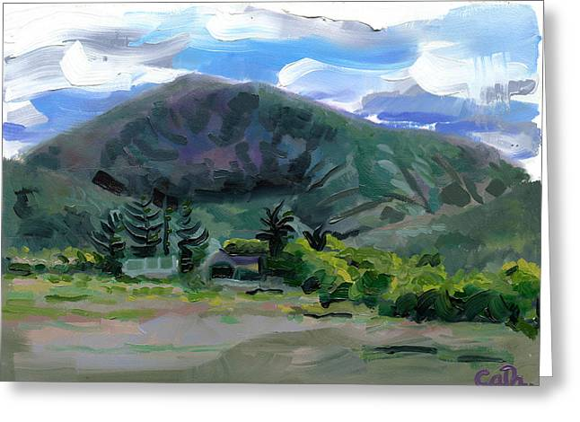 Catherine White Paintings Greeting Cards - Cumeen Mountain from Tularee Dingle on Irelands Wild Atlantic Way Greeting Card by Catherine Considine