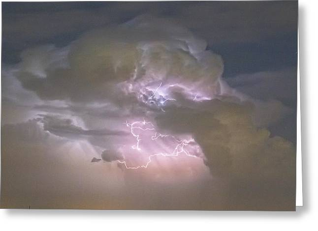 Summer Storm Greeting Cards - Cumulonimbus Cloud Explosion Portrait Greeting Card by James BO  Insogna