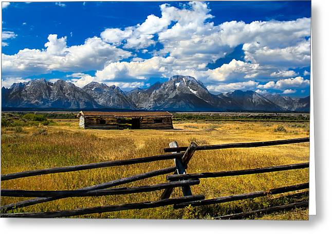 Log Cabins Photographs Greeting Cards - Cunningham Cabin Greeting Card by Robert Bales