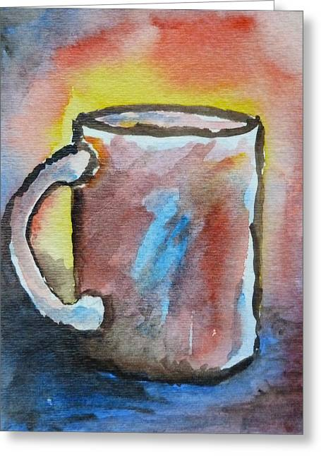 Loose Style Paintings Greeting Cards - Cup #4 Greeting Card by Susan Porter