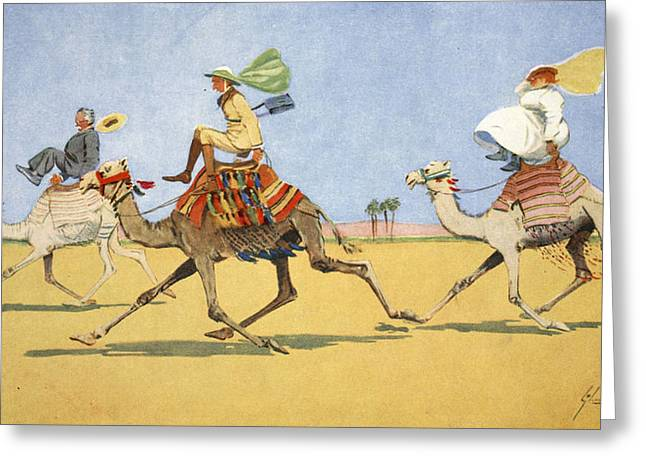 Cup And Ball-the Camels Favourite Game Greeting Card by Lance Thackeray