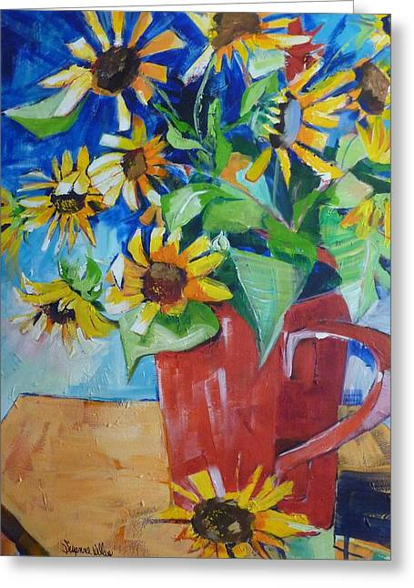 Cup Full Greeting Card by Suzanne Willis
