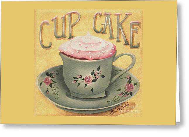 Frosting Greeting Cards - Cup of Cake Greeting Card by Catherine Holman