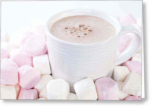 Cup Of Chocolate And Marshmallows Greeting Card by Colin and Linda McKie