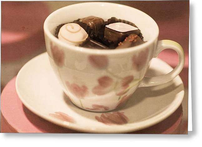 Cup And Saucer Greeting Cards - Cup of Chocolate Greeting Card by Juli Scalzi