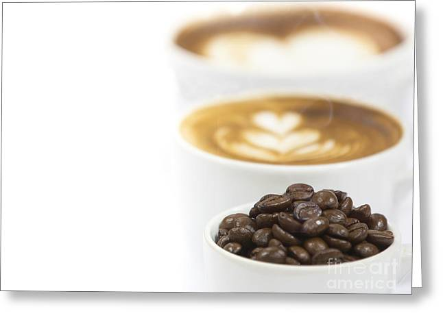 Wite Greeting Cards - Cup Of Coffee  Greeting Card by Anek Suwannaphoom
