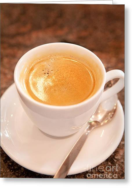 Kaffe Greeting Cards - Cup of Coffee Greeting Card by Iris Richardson