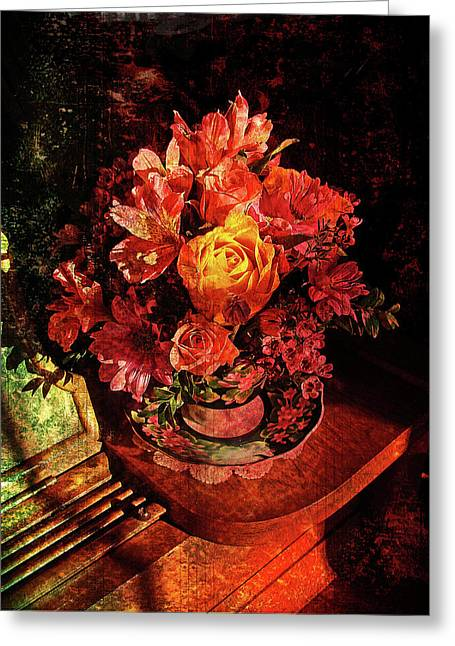 Floral Digital Art Greeting Cards - Cup of Sunshine Greeting Card by Lianne Schneider