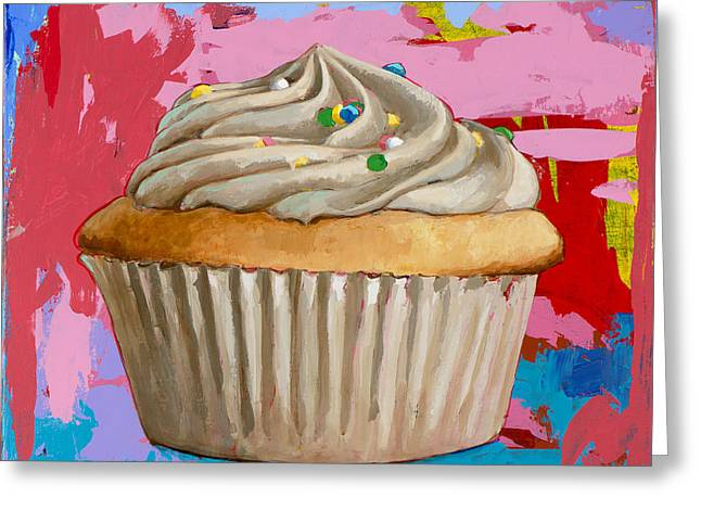 Cupcakes Greeting Cards - Cupcake #4 Greeting Card by David Palmer