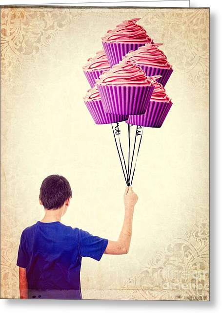 Cup Photographs Greeting Cards - Cupcake Balloons Greeting Card by Edward Fielding