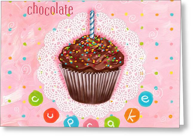 Cupcakes Greeting Cards - Cupcake-Chocolate Greeting Card by Shari Warren
