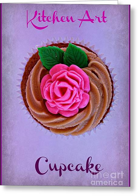 Frosting Digital Greeting Cards - Cupcake Greeting Card by Clare Bevan