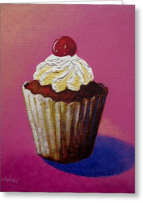 Menu Paintings Greeting Cards - Cupcake Delight Greeting Card by John  Nolan