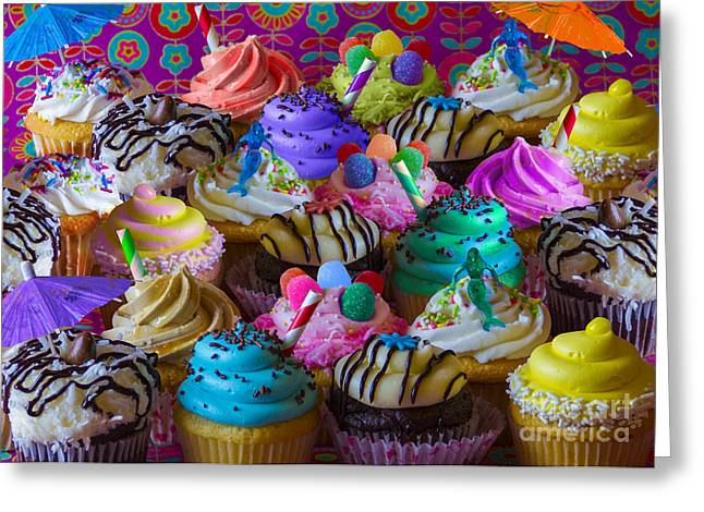 Amazing Digital Art Greeting Cards - Cupcake Galore Greeting Card by Aimee Stewart