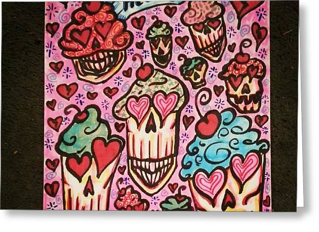 Stephanie Bucaria Greeting Cards - Cupcake Heads Greeting Card by Stephanie Bucaria