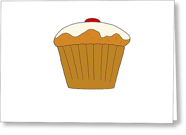 Cupcake Posters Digital Art Greeting Cards - Cupcake Greeting Card by Jonny White