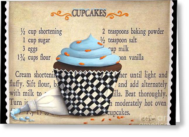 Best Sellers -  - Catherine White Greeting Cards - Cupcake Masterpiece Greeting Card by Catherine Holman