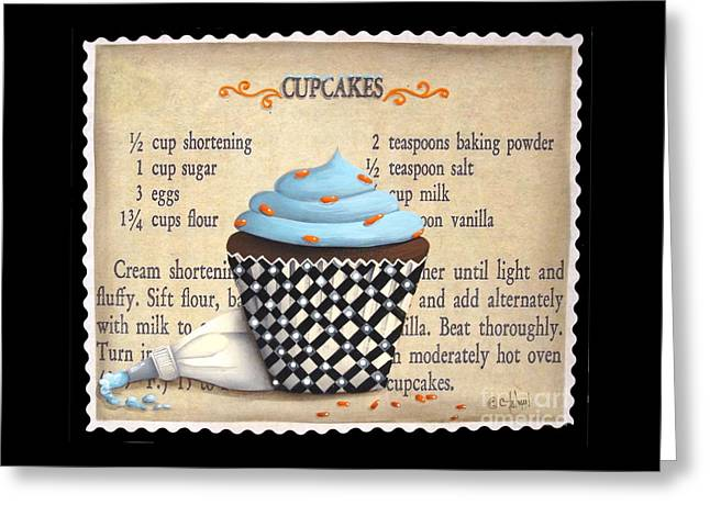 Catherine White Greeting Cards - Cupcake Masterpiece Greeting Card by Catherine Holman