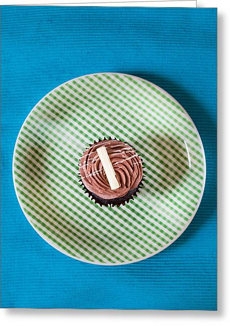 Frosting Greeting Cards - Cupcake  Greeting Card by Tom Gowanlock