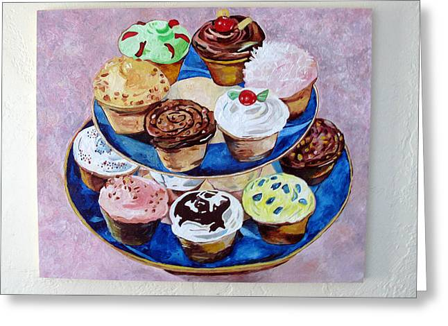 Cupcakes Greeting Card by Marianne Clancy