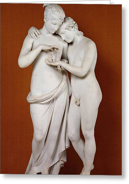 Nudes Sculptures Greeting Cards - Cupid and Psyche Greeting Card by Antonio Canova