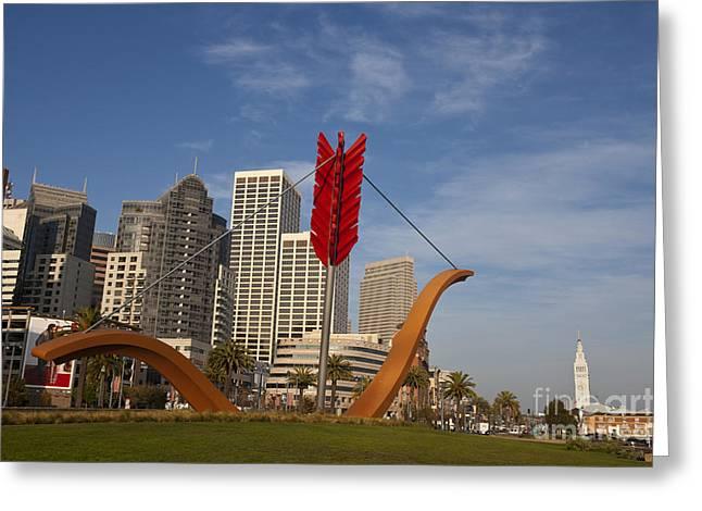 Rincon Greeting Cards - Cupids Arrow San Francisco Greeting Card by Jason O Watson
